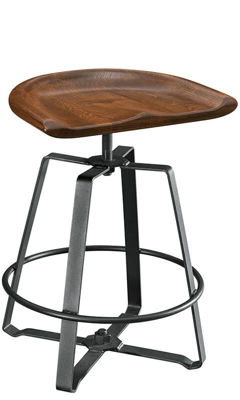RH Yoder Iron Craft Barstool
