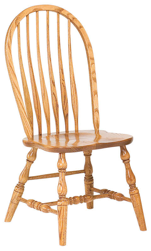 RH Yoder Bent Feather Bow Side Chair