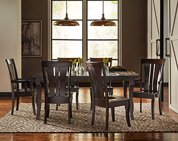 RH Yoder Fenmore Chairs and Fenmore Table Dining Room Furniture Set